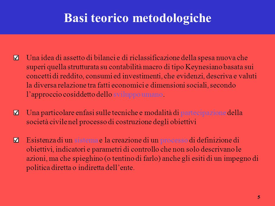 Basi teorico metodologiche