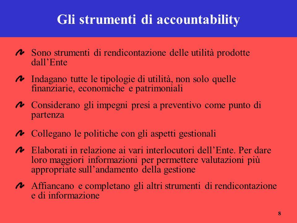 Gli strumenti di accountability