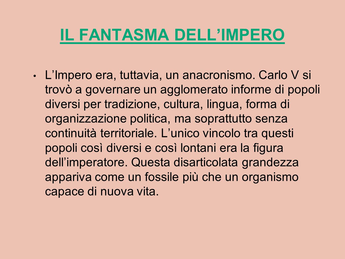 IL FANTASMA DELL'IMPERO
