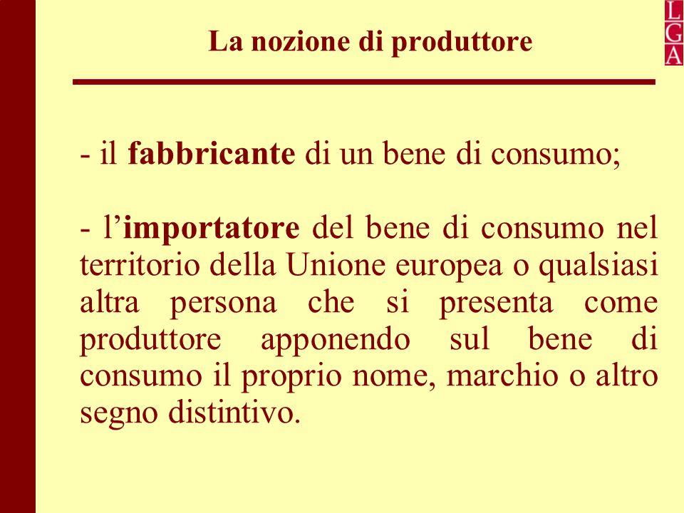La nozione di produttore