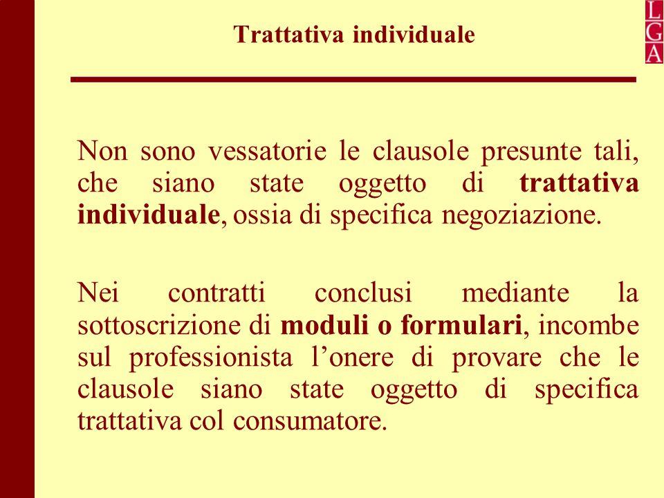Trattativa individuale