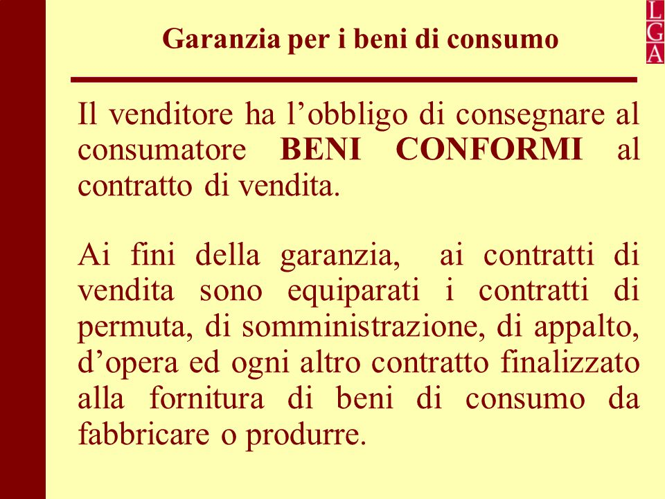 Garanzia per i beni di consumo