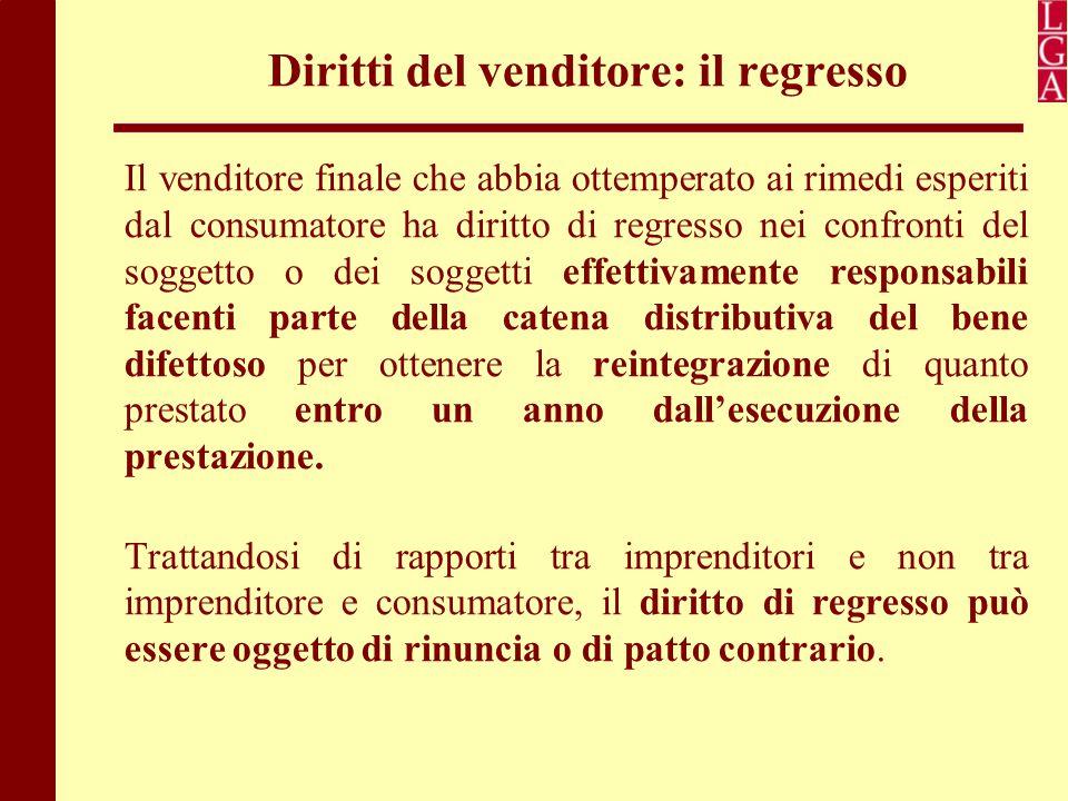 Diritti del venditore: il regresso