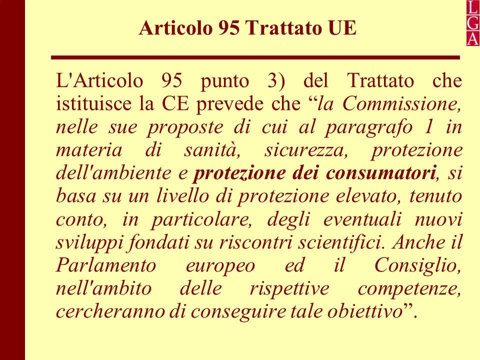 Articolo 95 Trattato UE