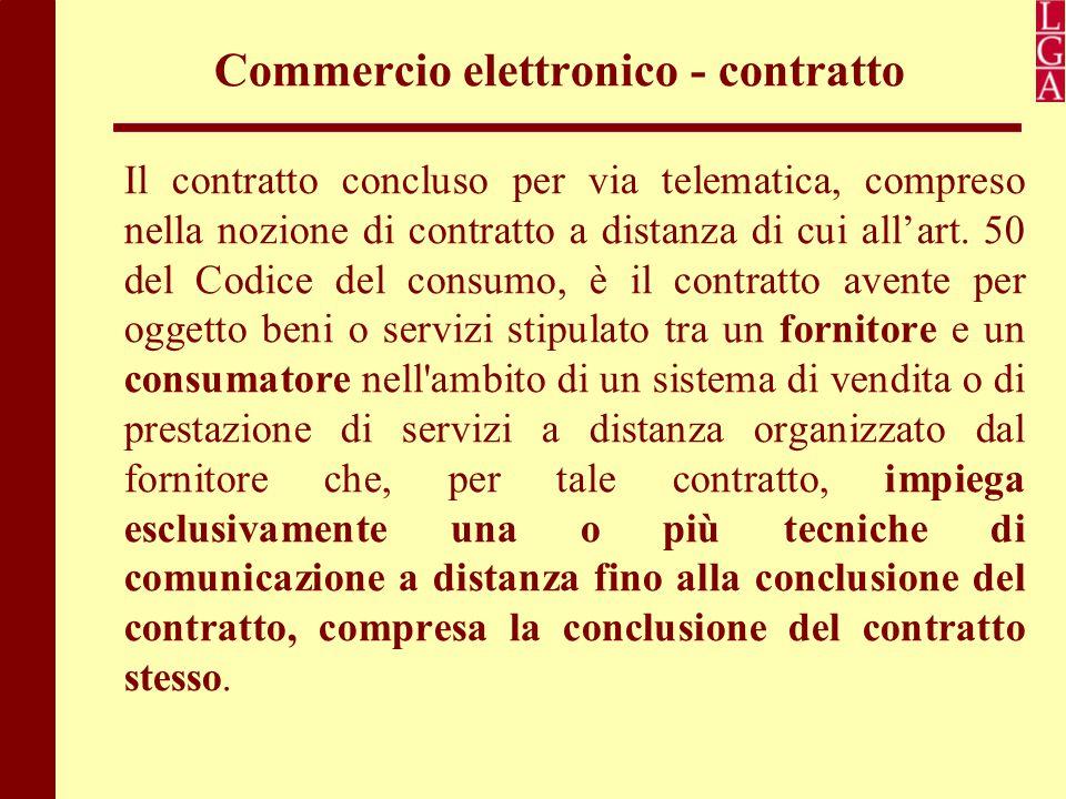 Commercio elettronico - contratto