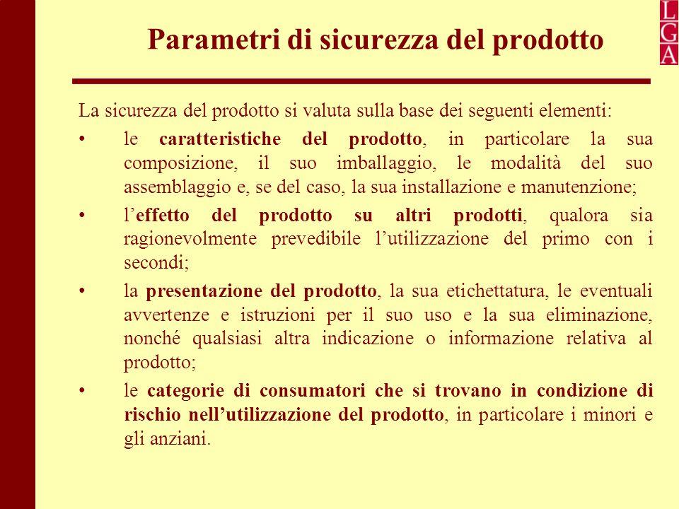 Parametri di sicurezza del prodotto