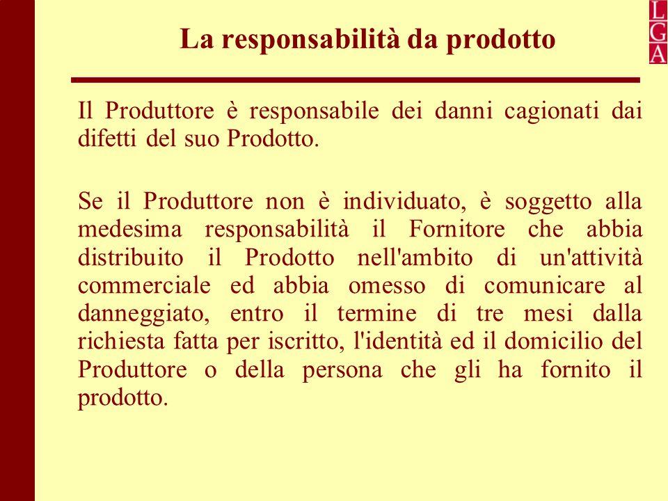 La responsabilità da prodotto