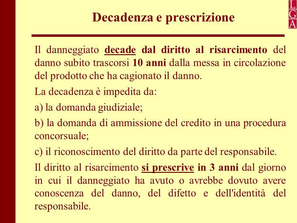 Decadenza e prescrizione