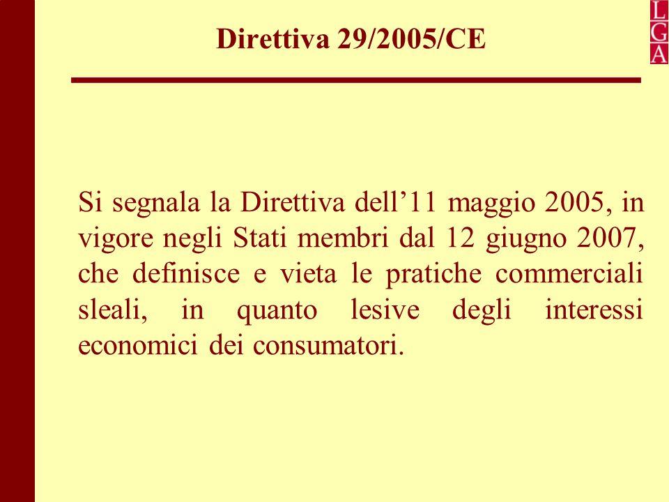 Direttiva 29/2005/CE