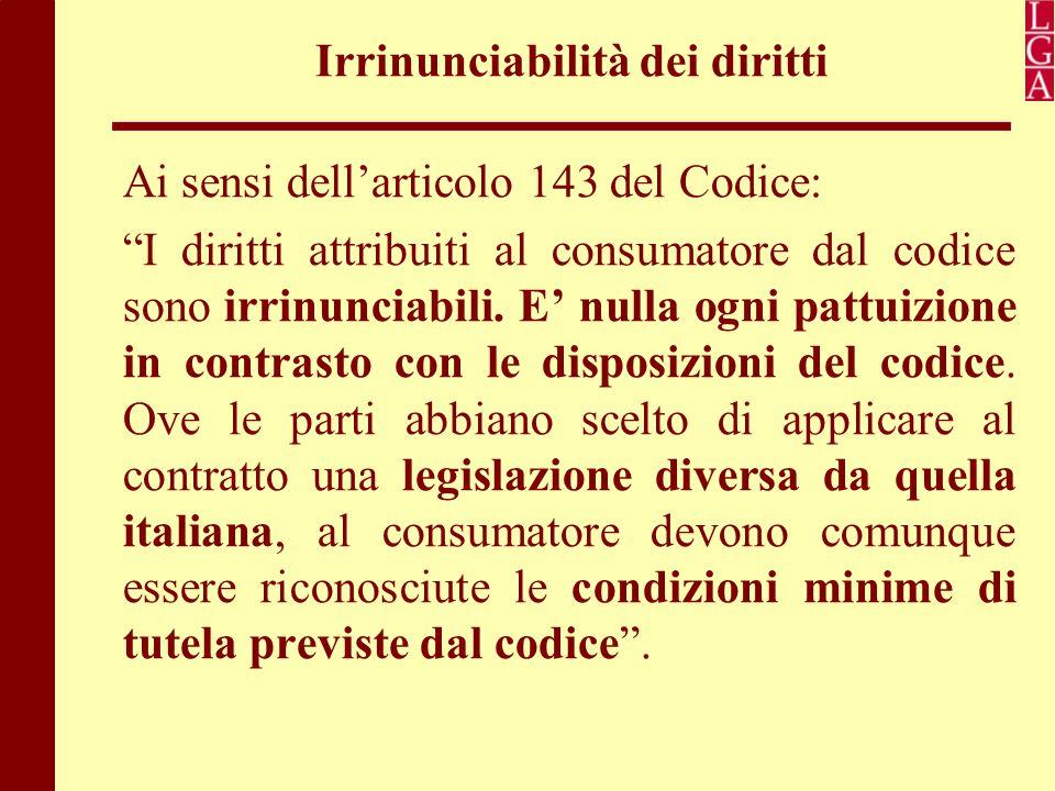 Irrinunciabilità dei diritti