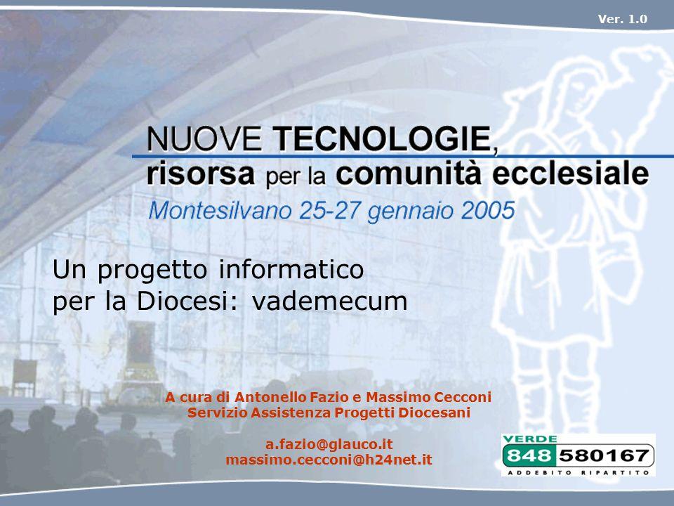 Un progetto informatico per la Diocesi: vademecum