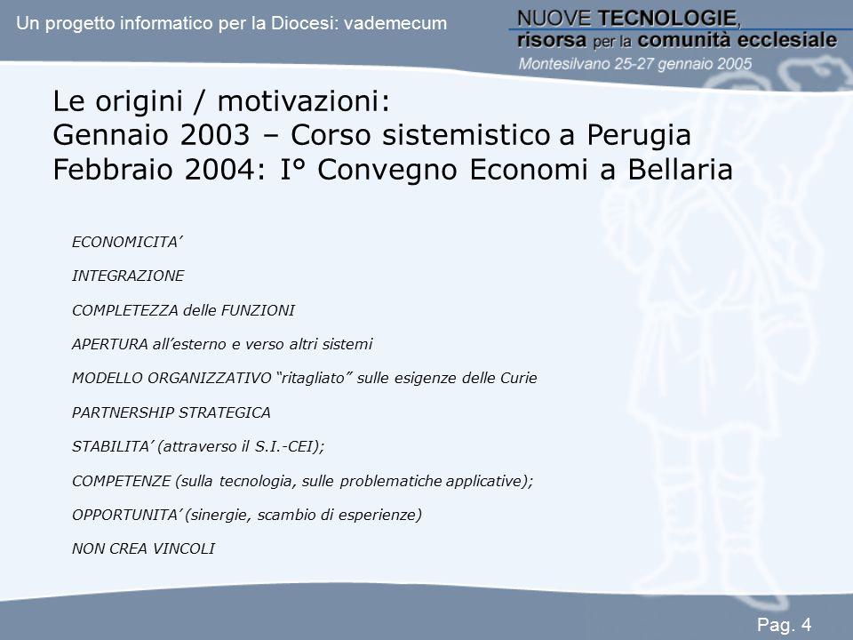 Le origini / motivazioni: Gennaio 2003 – Corso sistemistico a Perugia