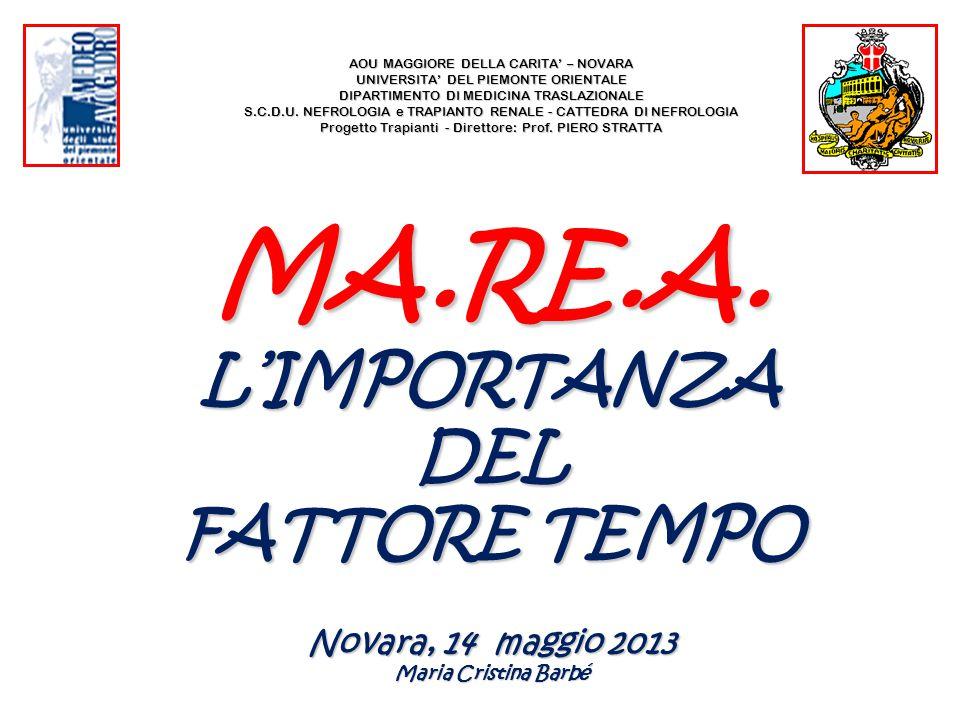 MA.RE.A. L'IMPORTANZA DEL FATTORE TEMPO Novara, 14 maggio 2013