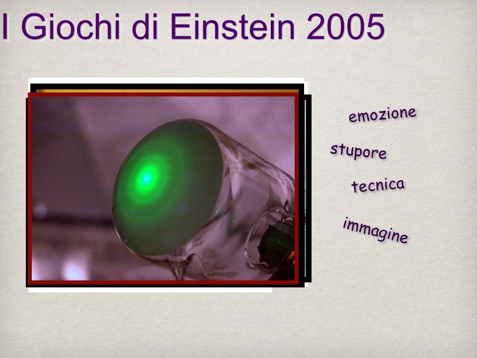 I Giochi di Einstein 2005 emozione stupore tecnica immagine