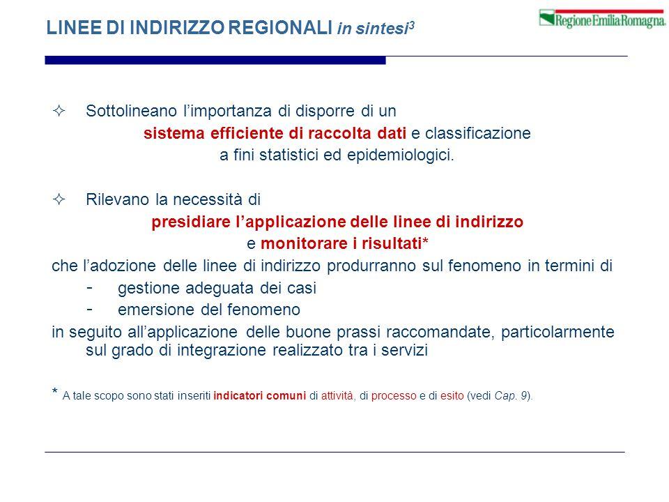 LINEE DI INDIRIZZO REGIONALI in sintesi3
