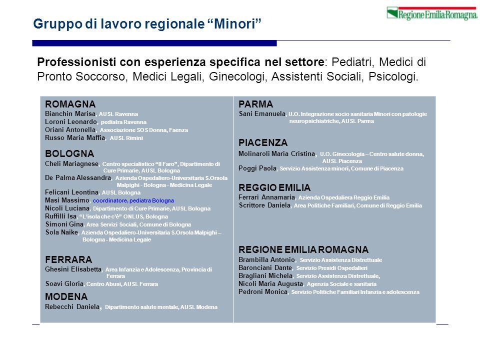 Gruppo di lavoro regionale Minori