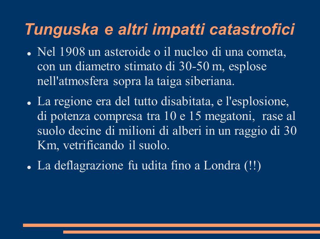 Tunguska e altri impatti catastrofici