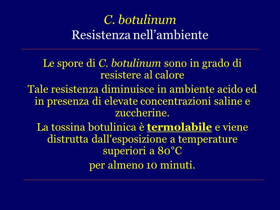 C. botulinum Resistenza nell'ambiente
