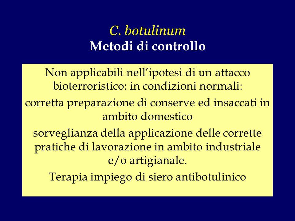C. botulinum Metodi di controllo