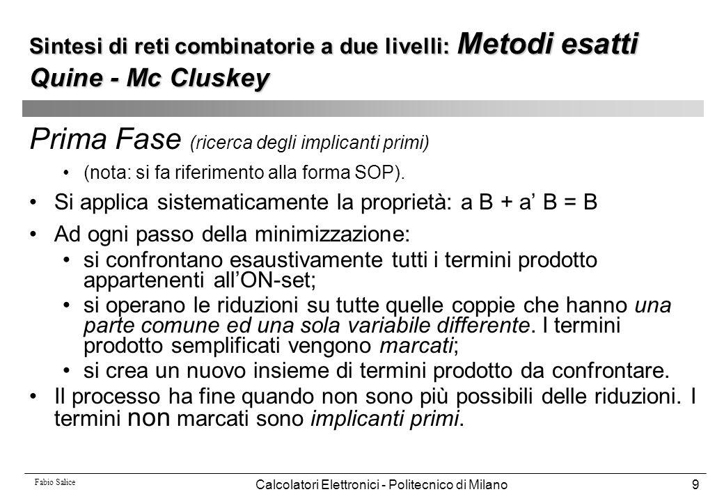 Calcolatori Elettronici - Politecnico di Milano