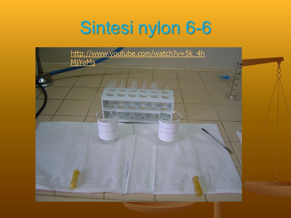 Sintesi nylon 6-6 http://www.youtube.com/watch v=5k_4hMjYoMs