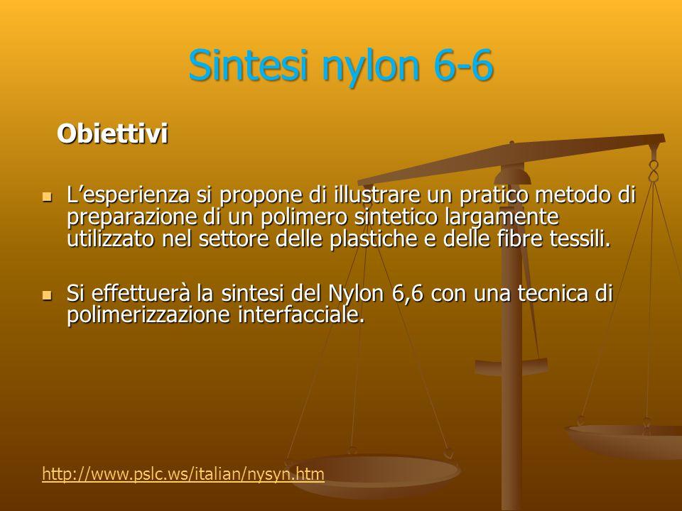 Sintesi nylon 6-6 Obiettivi