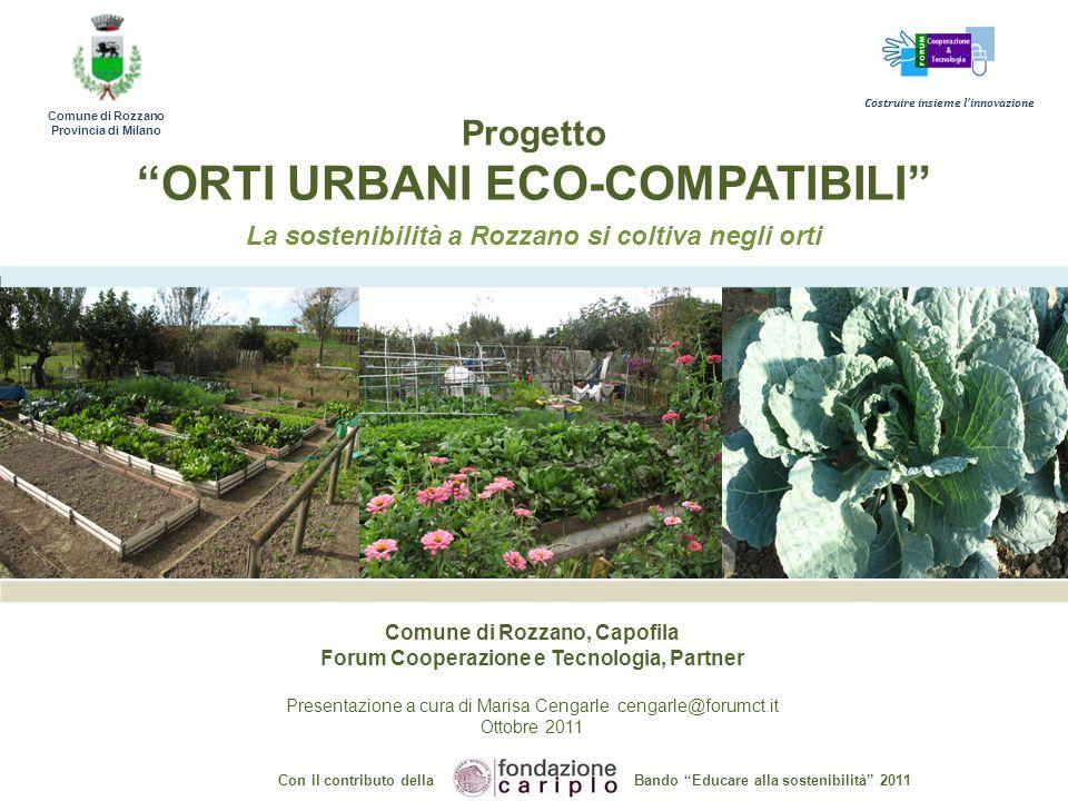 Progetto orti urbani eco compatibili ppt scaricare for Planimetrie eco compatibili