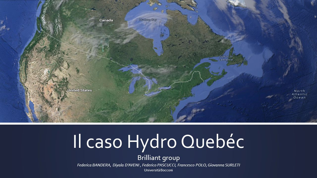 Il caso Hydro Quebéc Brilliant group