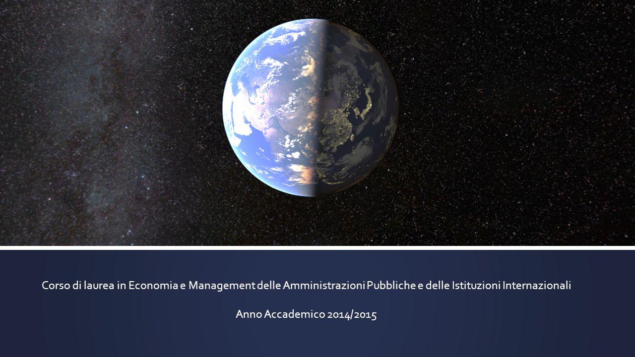 Corso di laurea in Economia e Management delle Amministrazioni Pubbliche e delle Istituzioni Internazionali