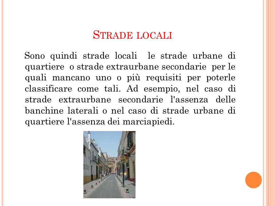 Strade locali