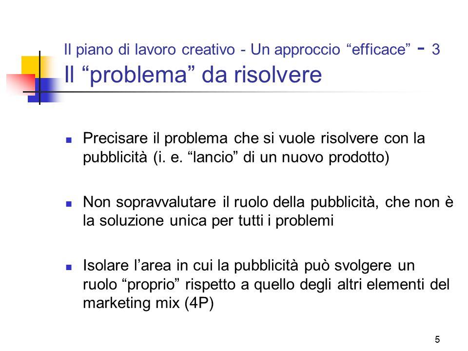 Il piano di lavoro creativo - Un approccio efficace - 3 Il problema da risolvere