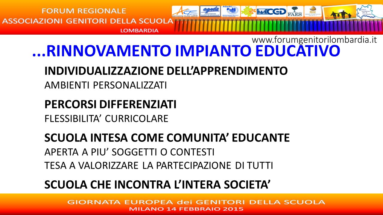 ...RINNOVAMENTO IMPIANTO EDUCATIVO
