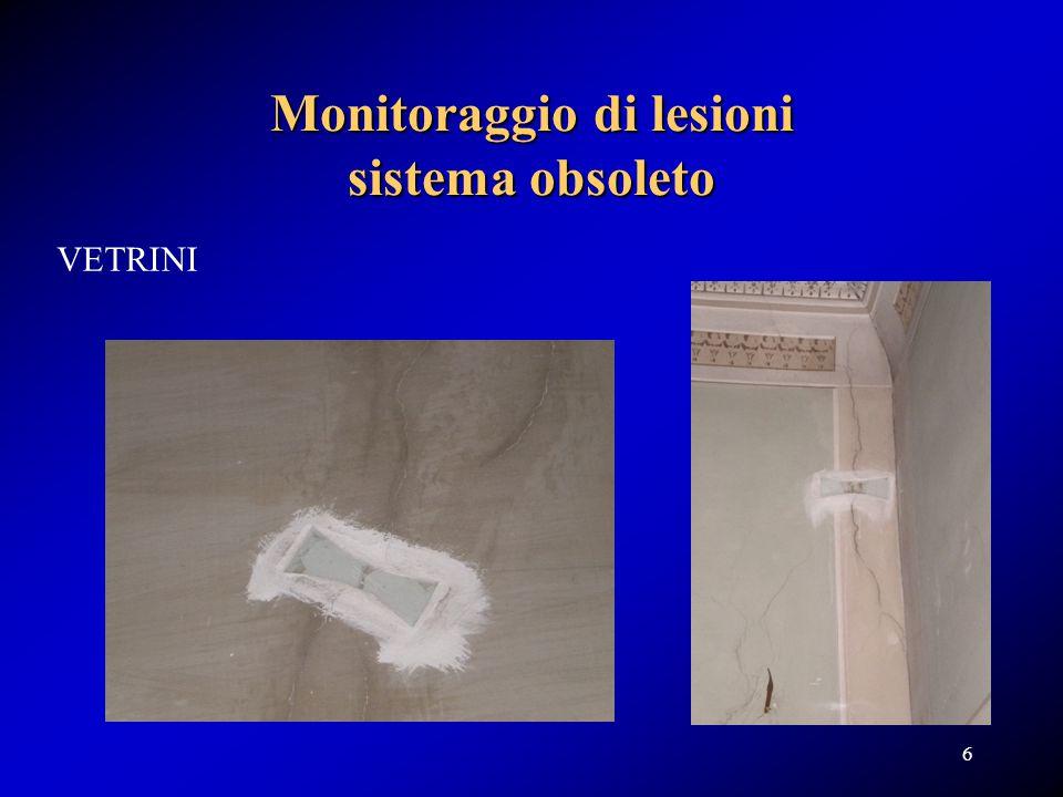 Monitoraggio di lesioni sistema obsoleto