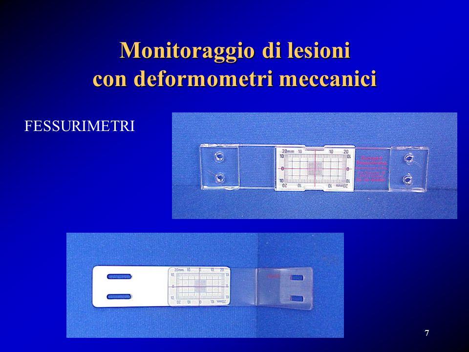 Monitoraggio di lesioni con deformometri meccanici
