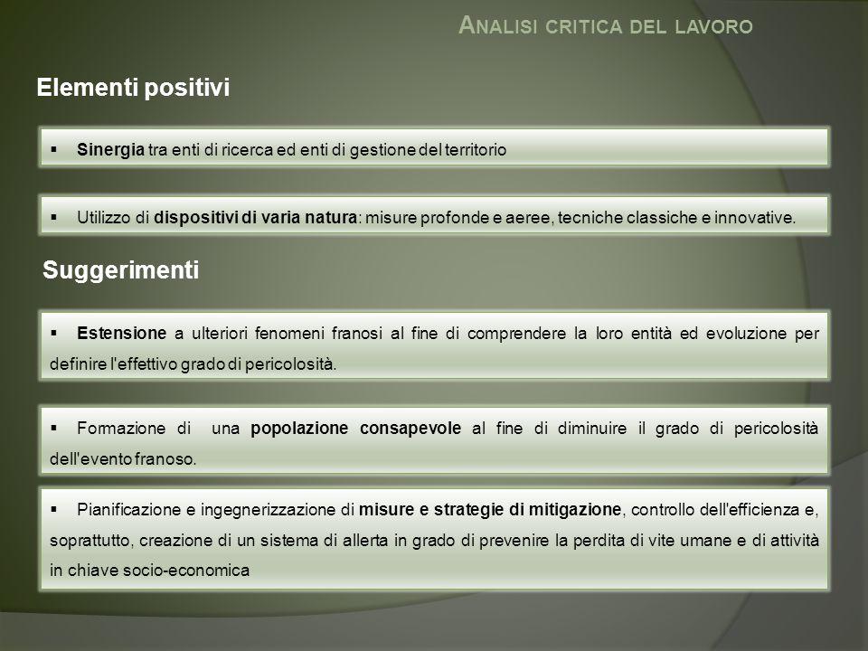 Analisi critica del lavoro