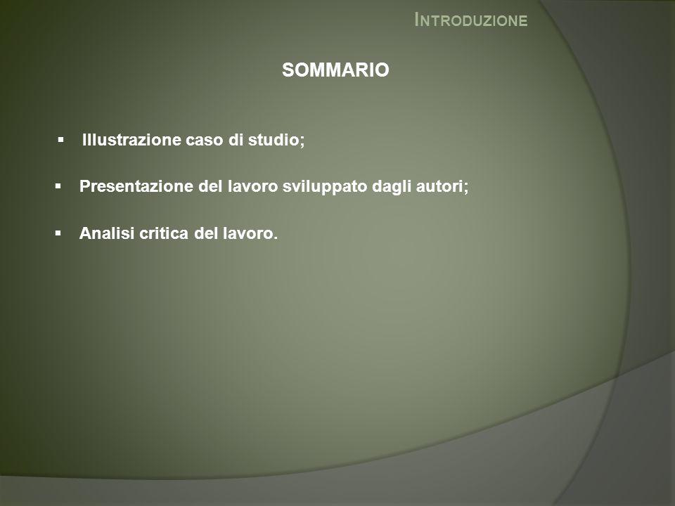 Introduzione SOMMARIO