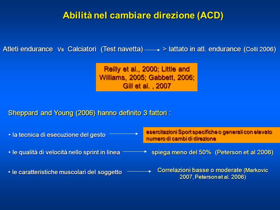 Abilità nel cambiare direzione (ACD)