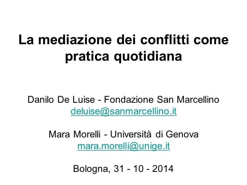 La mediazione dei conflitti come pratica quotidiana