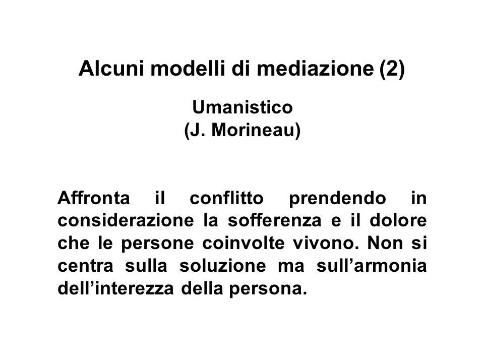 Alcuni modelli di mediazione (2)