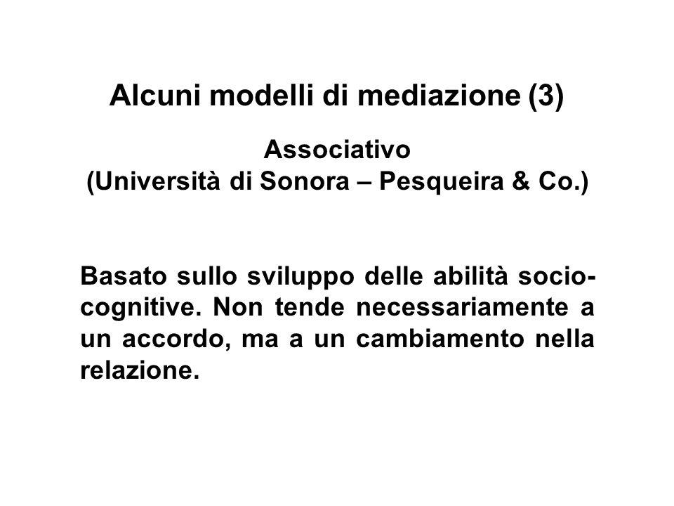 Alcuni modelli di mediazione (3)