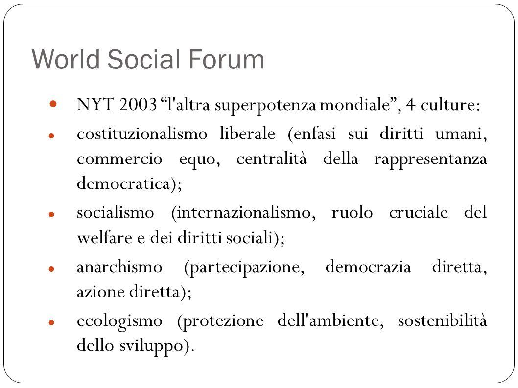 World Social ForumNYT 2003 l altra superpotenza mondiale , 4 culture: