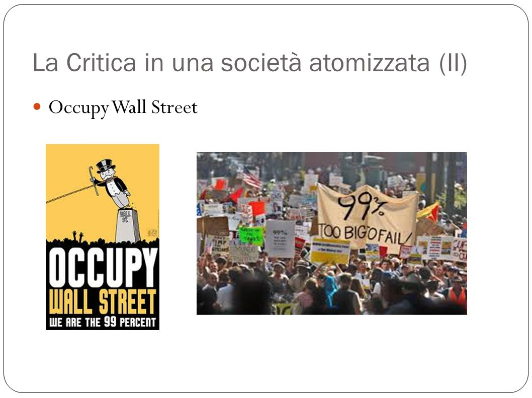 La Critica in una società atomizzata (II)