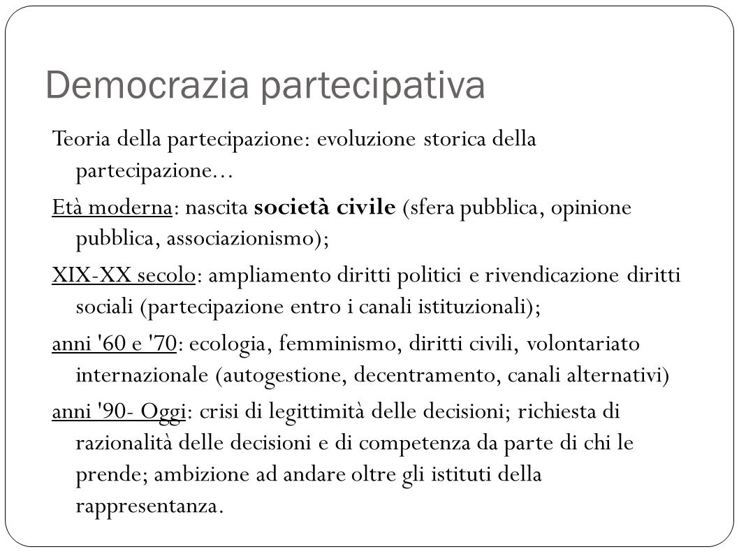 Democrazia partecipativa