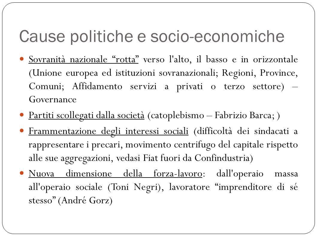 Cause politiche e socio-economiche