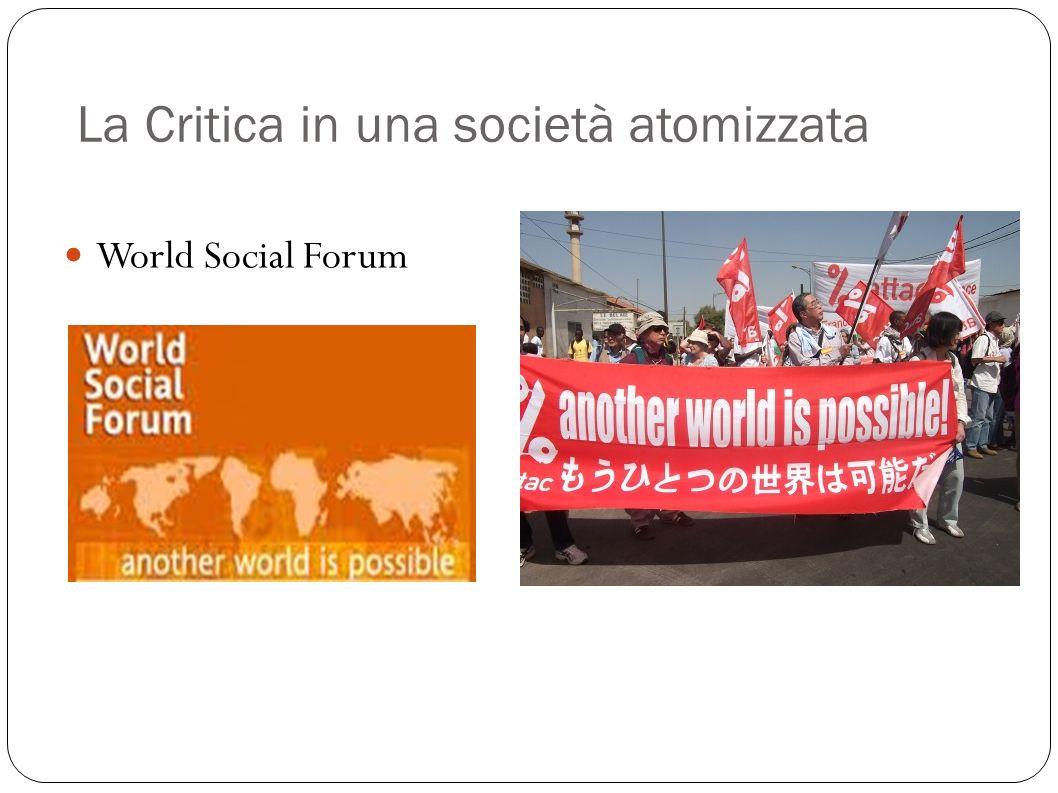 La Critica in una società atomizzata