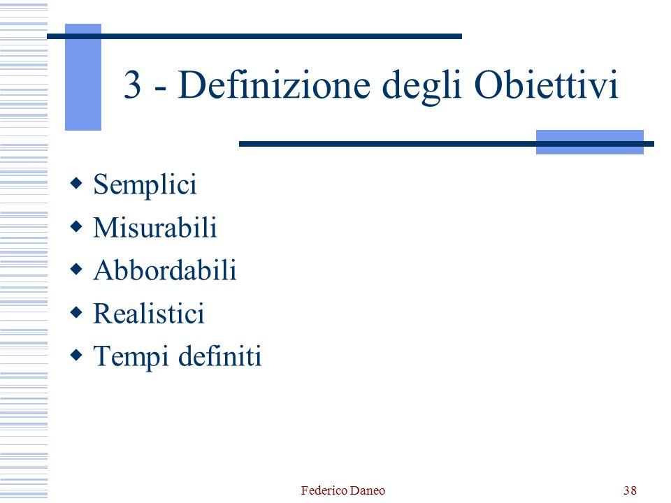 3 - Definizione degli Obiettivi