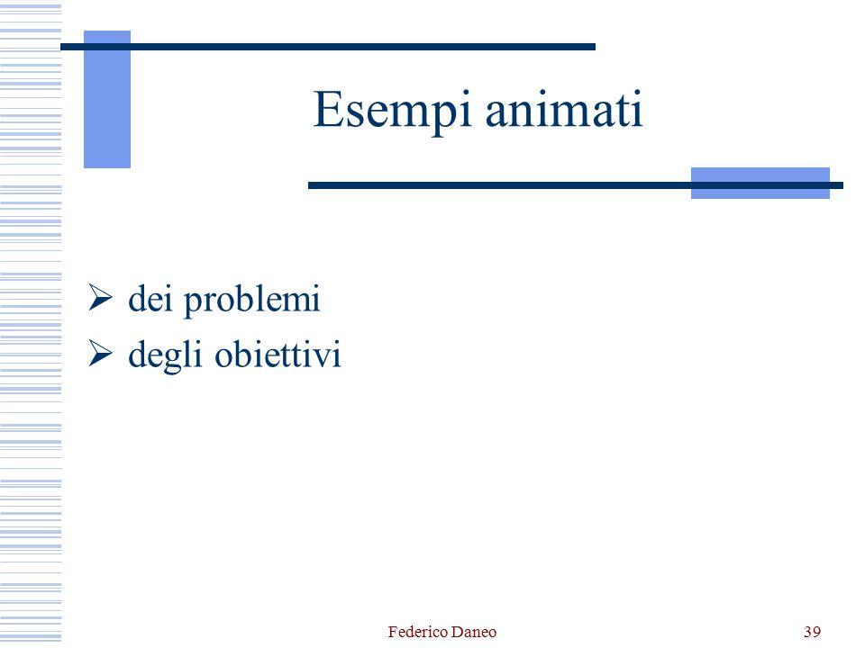 Esempi animati dei problemi degli obiettivi Federico Daneo