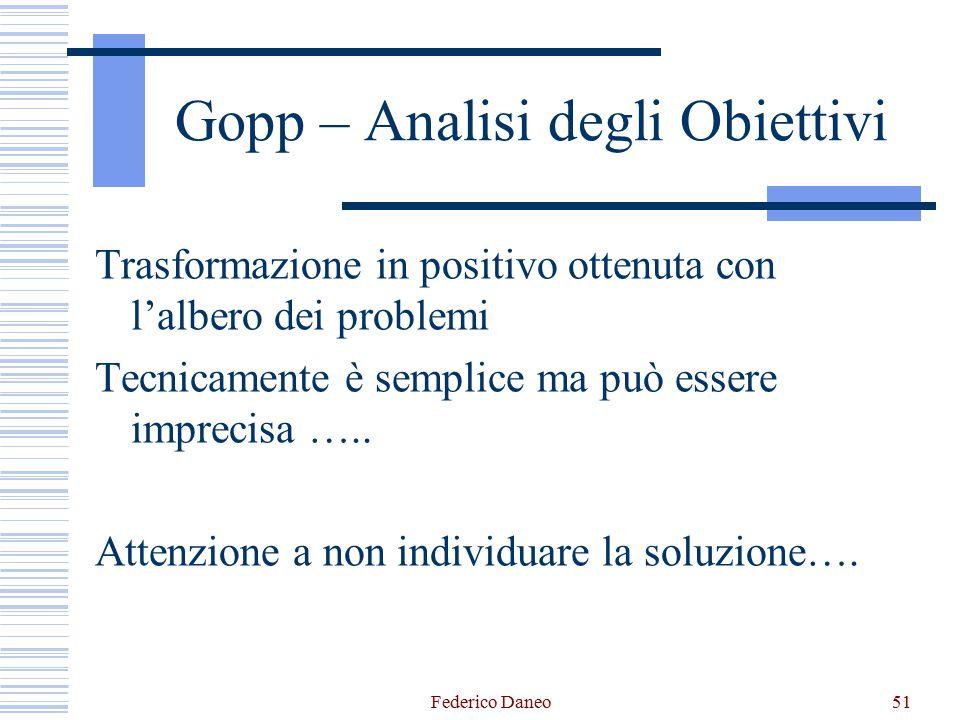 Gopp – Analisi degli Obiettivi