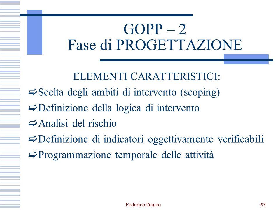 GOPP – 2 Fase di PROGETTAZIONE