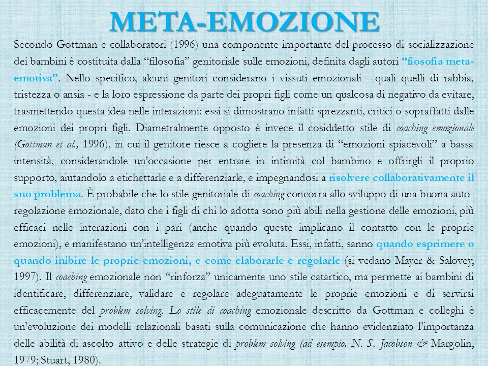 META-EMOZIONE